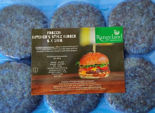 Butcher Style Burgers 6 x 180g