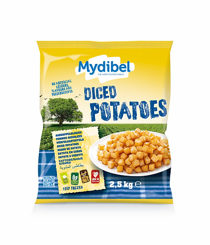 Mydibel Diced Potatoes x 2.5kg