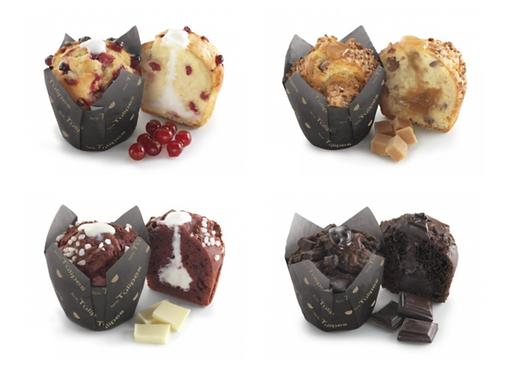 Assorted Tulip Muffins x 4