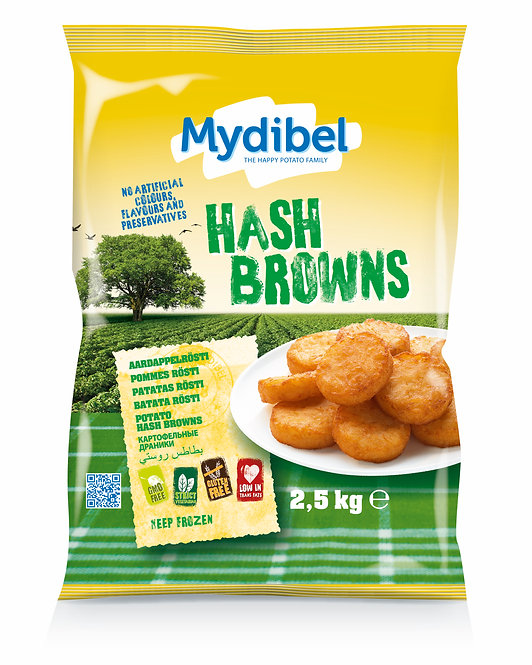 Mydibel Hash Browns x 2.5kg