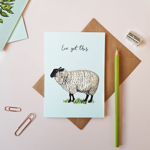 'Ewe Got This' Greetings Card