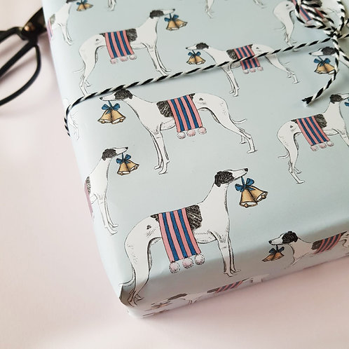 Festive Whippet Christmas Wrapping Paper