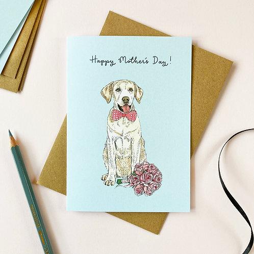Yellow Labrador Mother's Day Card