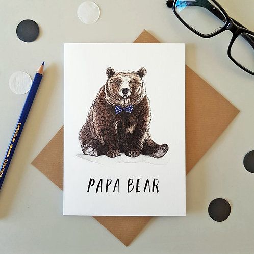 Papa Bear Father's Day Card