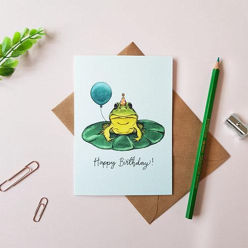 'Happy Birthday' Frog Greetings Card