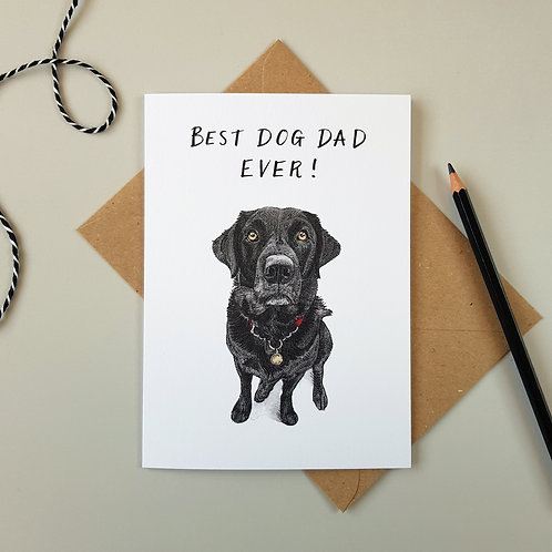 'Best Dog Dad' Labrador Father's Day Card