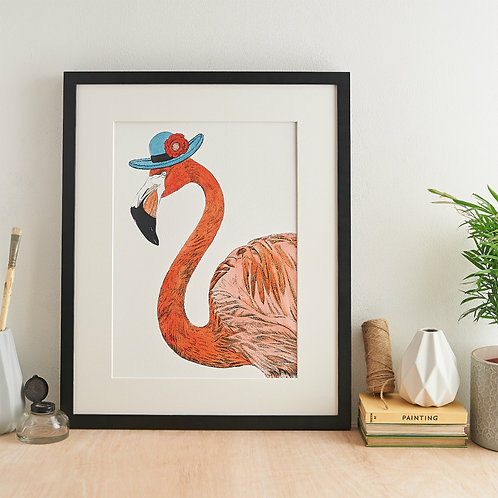 Safari Flamingo Giclée Print
