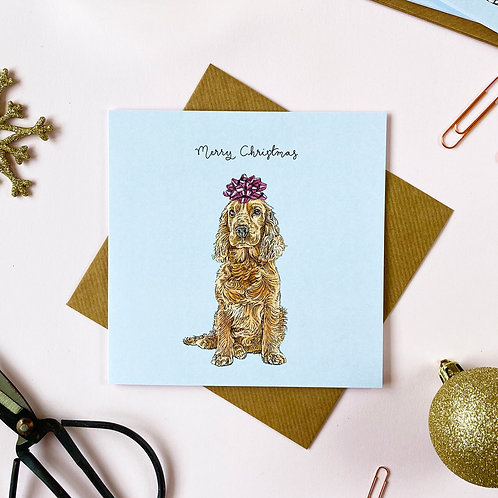 Festive Cocker Spaniel Christmas Card