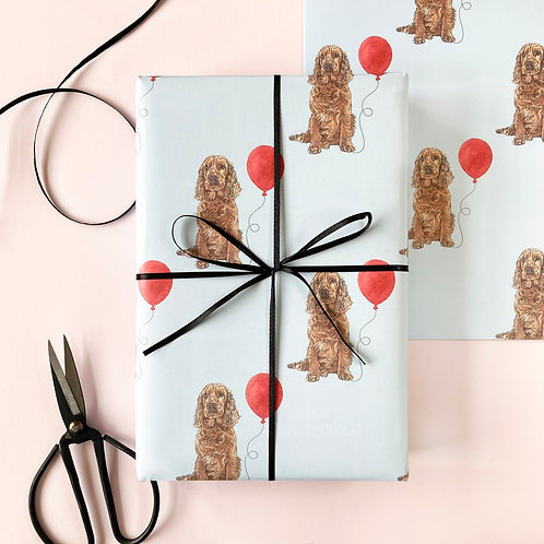 Cocker Spaniel Birthday Wrapping Paper