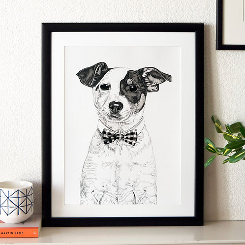 Jack Russell Dog Giclée Print