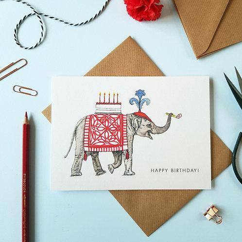 'Happy Birthday' Elephant Greetings Card