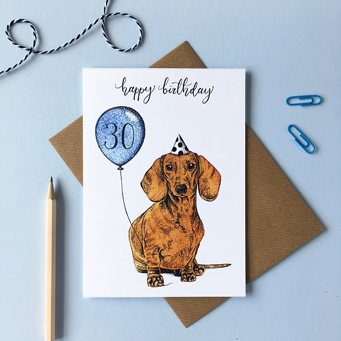 Dachshund Dog Birthday Card