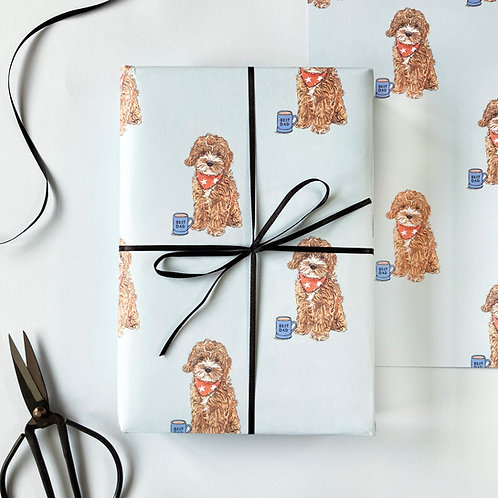Cockapoo Dog Father's Day Wrapping Paper
