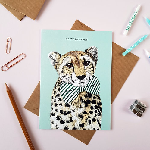 Safari Cheetah Birthday Card