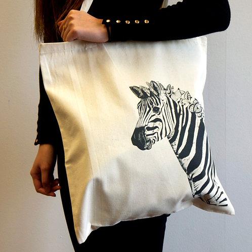 Zara Zebra Tote Bag