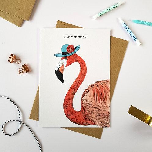 Safari Flamingo Birthday Card