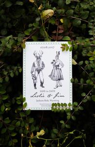 Save the Date Wedding Illustration
