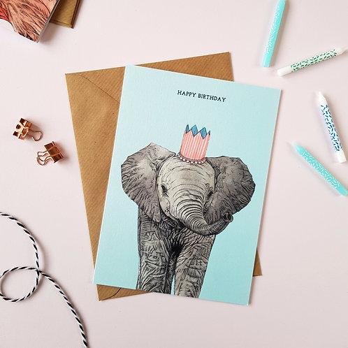 Safari Elephant Birthday Card