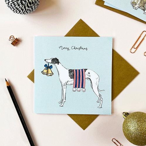 Festive Whippet Christmas Card