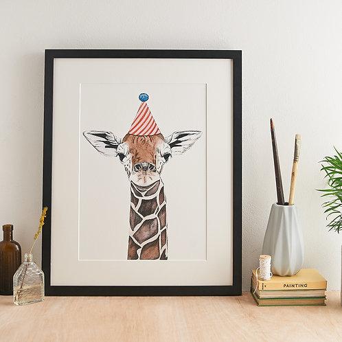 Safari Giraffe Giclée Print