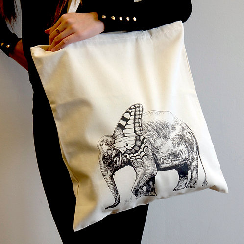 Elle the Elephant Tote Bag