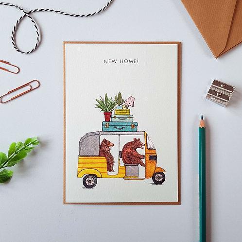 'New Home!' Bear Greetings Card