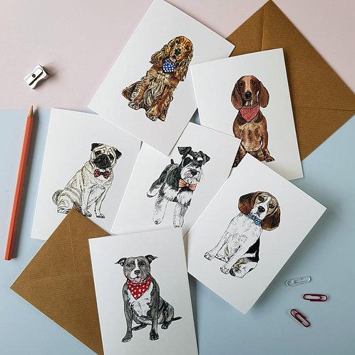 Dashing Dogs Greetings Card Pack