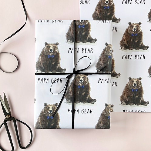 Papa Bear Father's Day Wrapping Paper