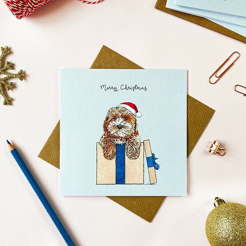 Festive Cockapoo Christmas Card