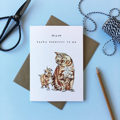 Cat and Kitten Mother's Day Card