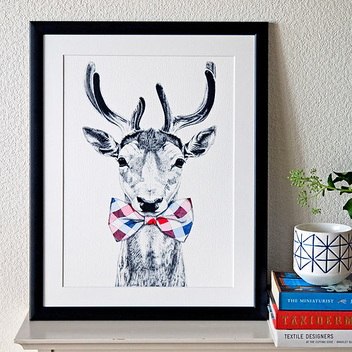 Deer in a Bow Tie Giclée Print