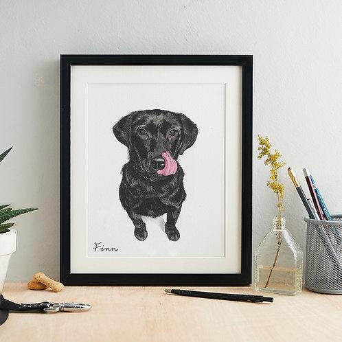 Personalised Watercolour Pet Portrait