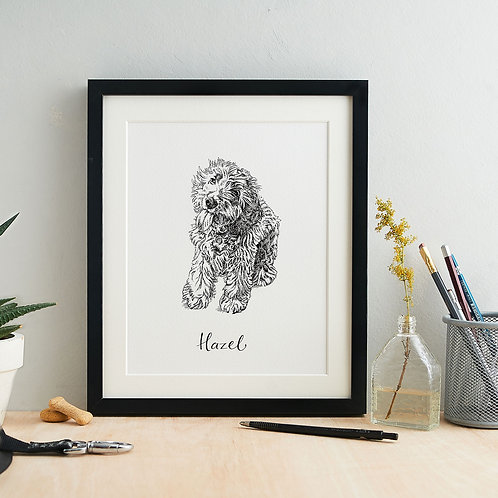 Personalised Pen and Ink Pet Portrait