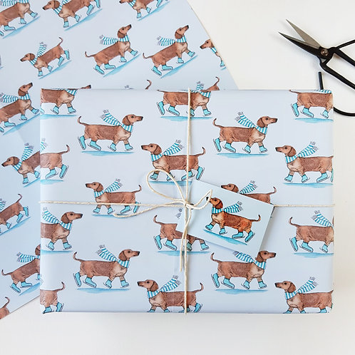 Festive Dachshund Christmas Wrapping Paper