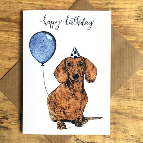 Dachshund Dog Birthday Card