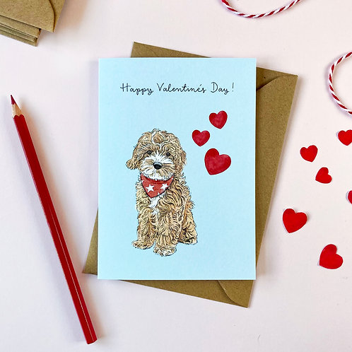 Cockapoo Valentine's Day Card
