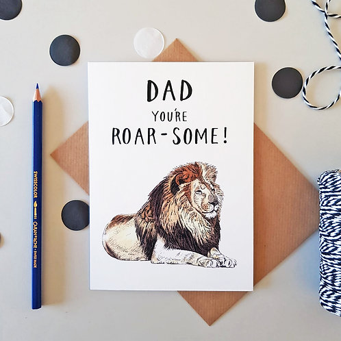 You're Roar-Some! Father's Day Card