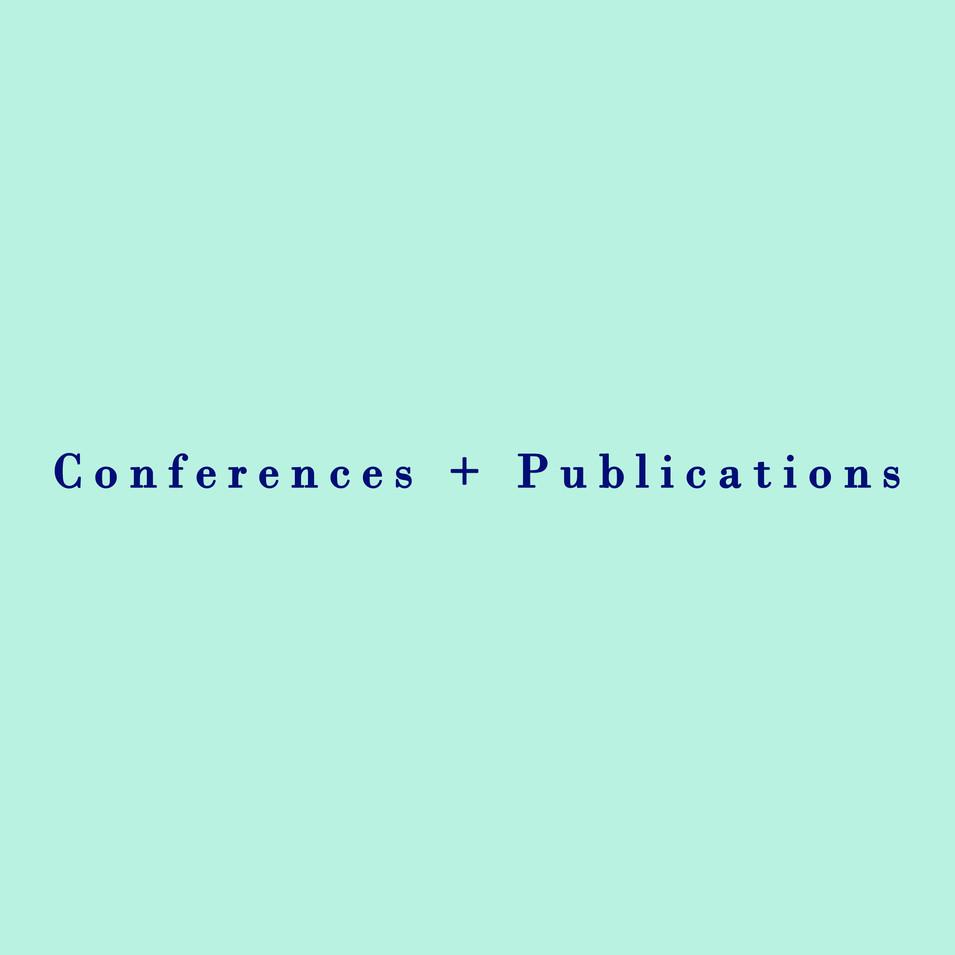 Conferences + Publications_Marika Preziu