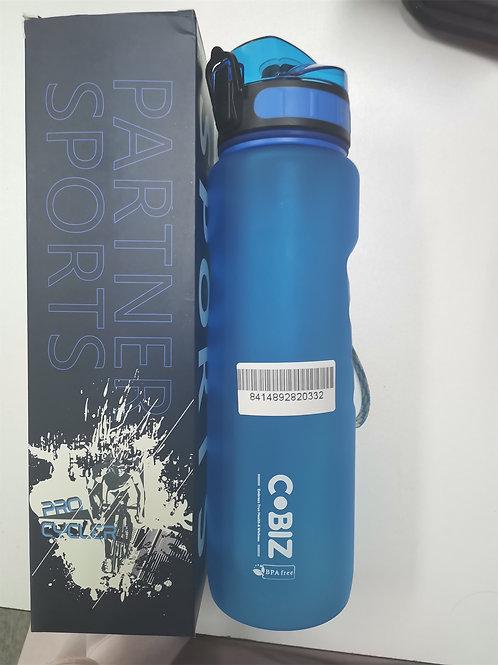 Cobiz Large 34oz Water Bottle with Marker,100% BPA Free,Lightweight Leak-proof S