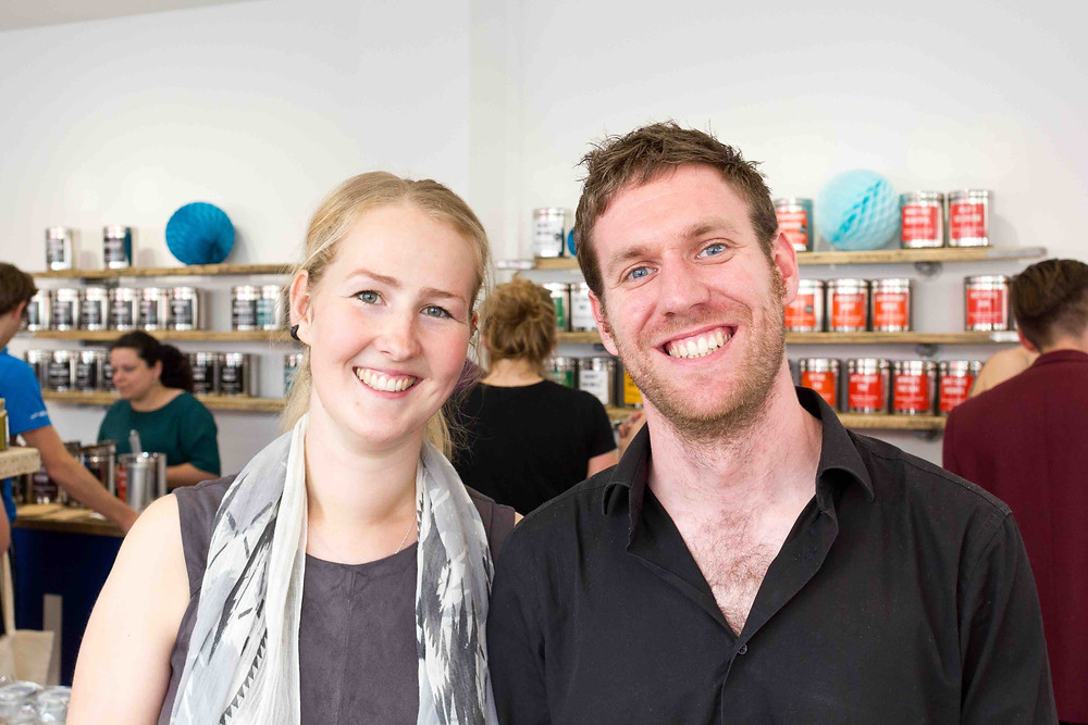 Krisi Smith and Mike Turner, Co-founders of Bluebird Tea Co