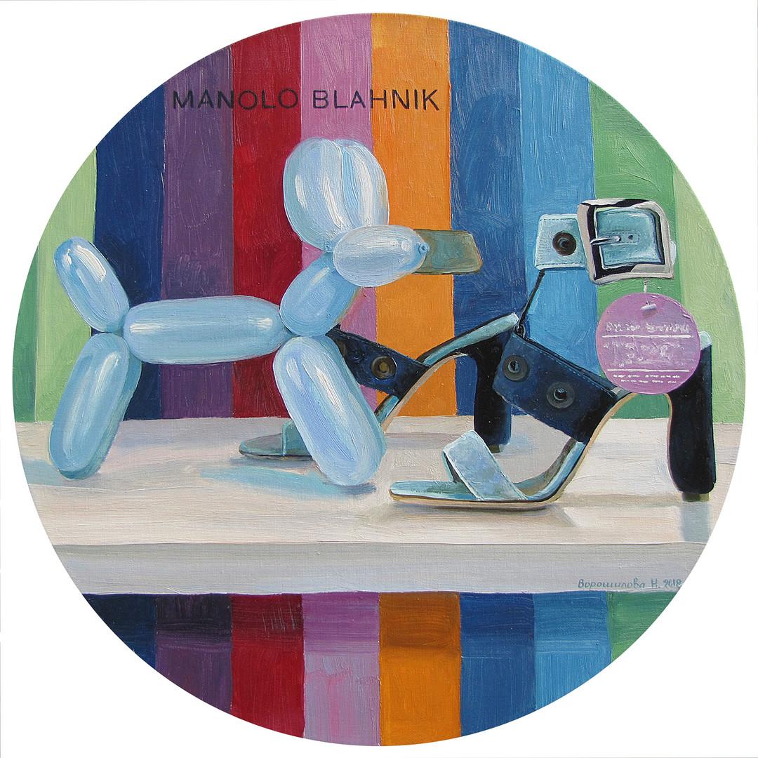 Manolo-Blahnik, 50x50 cm, 2018
