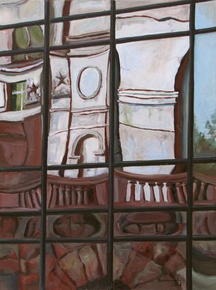 Reflection. High-rise on Barrikadnaya