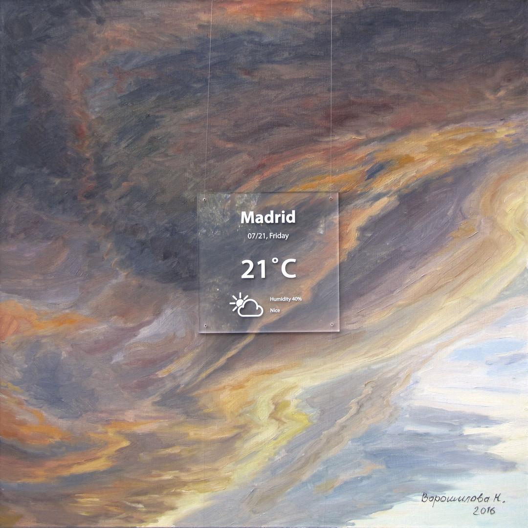 Madrid. 2016, 80x80 cm, oil on canvas