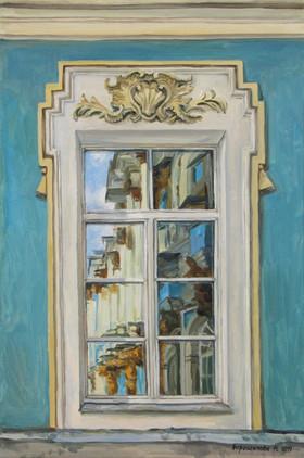 Reflection. Window 3, 60x40 cm, 2019,