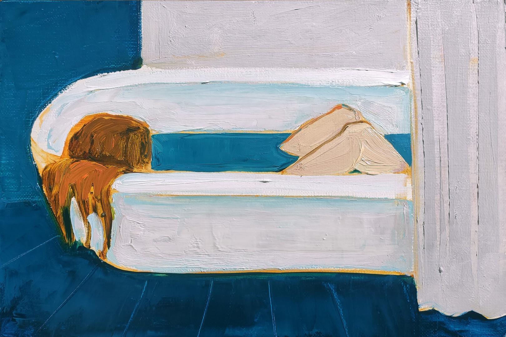 "hMaria Kostareva, ""In a Bath 2"", 30x20 cm, 2020"