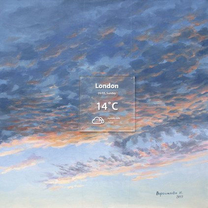 London. 2017, 80x80 cm, oil on canvas