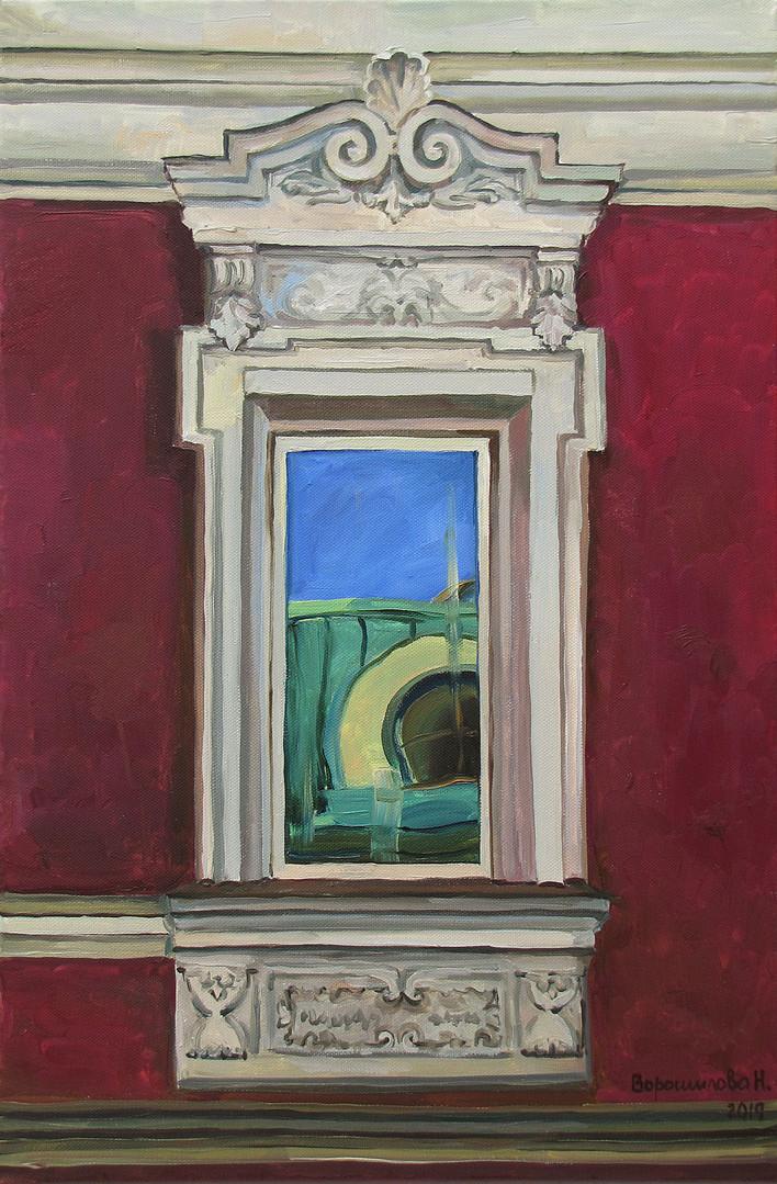 Reflection. Window 1, 60x40 cm, 2019