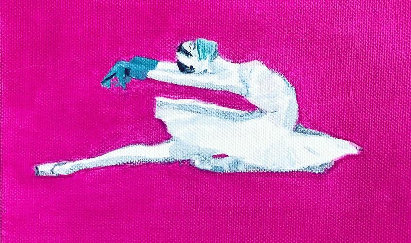 «Репетиция. Одиллия», холст/масло, 20х20
