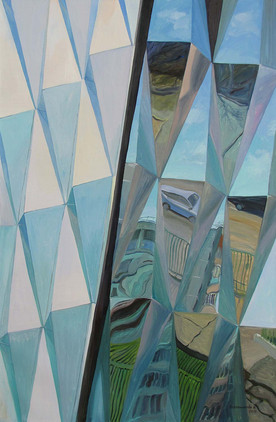 Reflection. Pyramids. 2016, 150x100cm