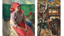 Выручка первого онлайн-аукциона русского искусства Christie's составила  £3 323 000